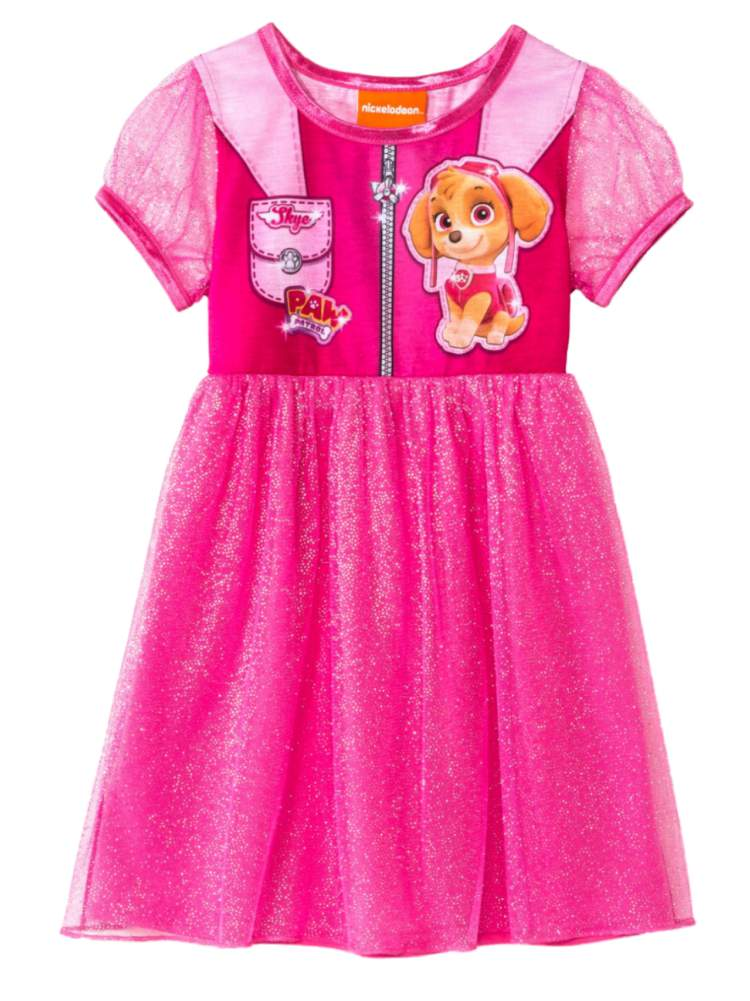 Nickelodeon Infant Girls Pink Paw Patrol Nightgown Skye Puppy Dog Night Gown