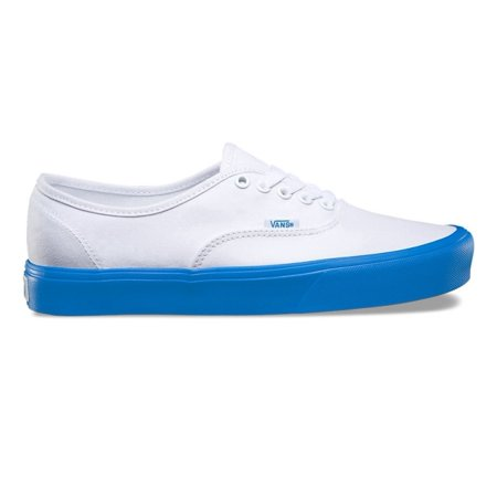 1504bff89004 Vans - Vans Authentic Lite Pop Sole True White Blue Men s Classic Skate  Shoes Size 10 - Walmart.com