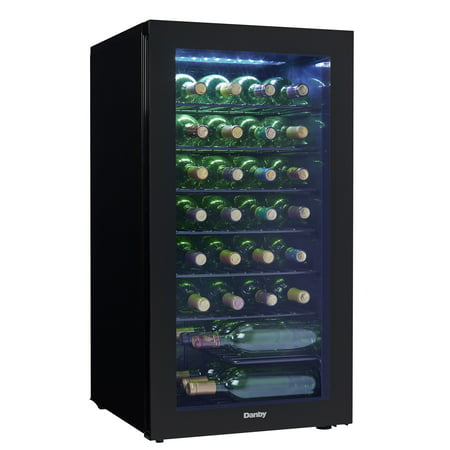 Danby 3.2 Cubic Foot Free-Standing Wine Cooler in (Best 48 Inch Refrigerator 2019)