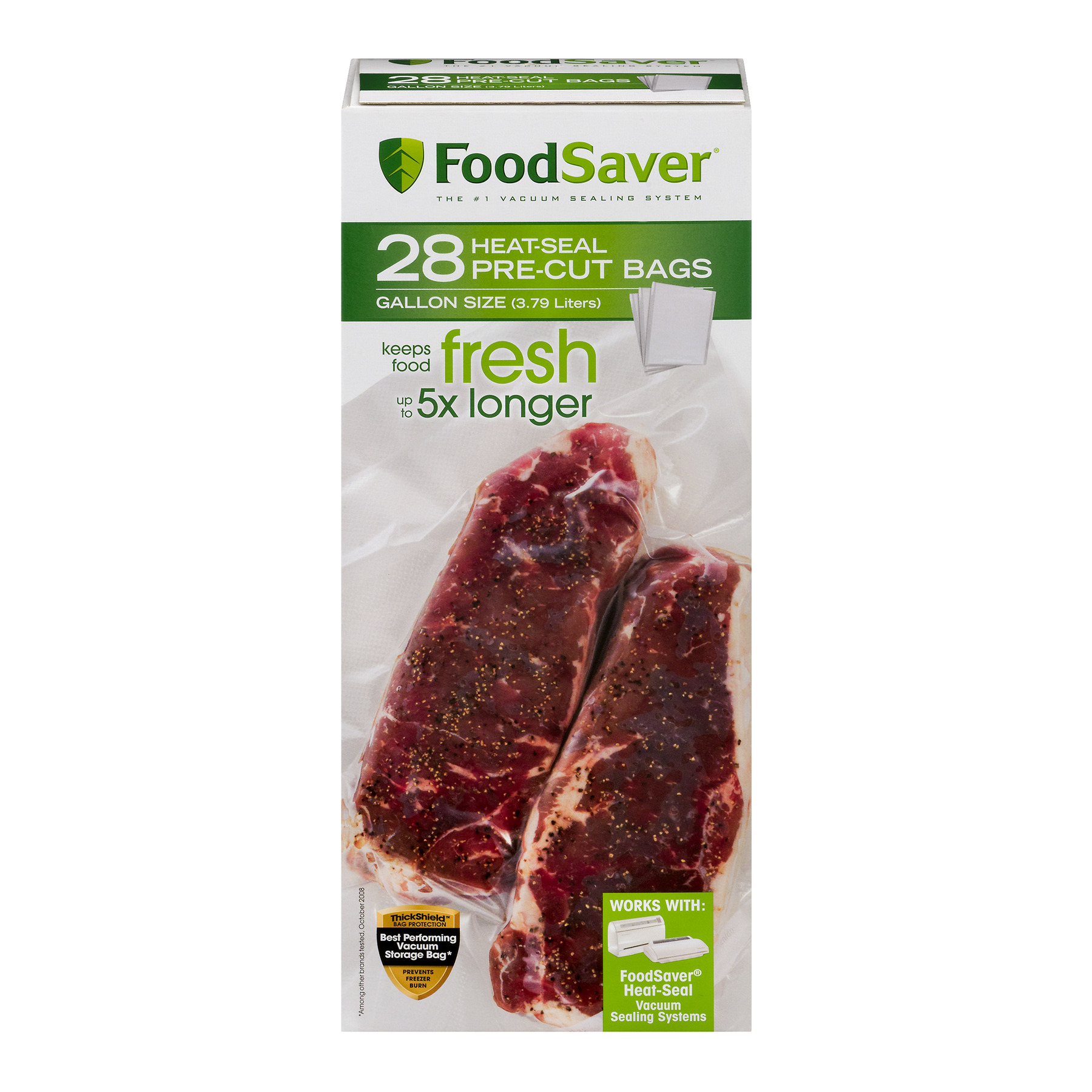FoodSaver 1-Gallon Vacuum Seal Bags, 28 Count