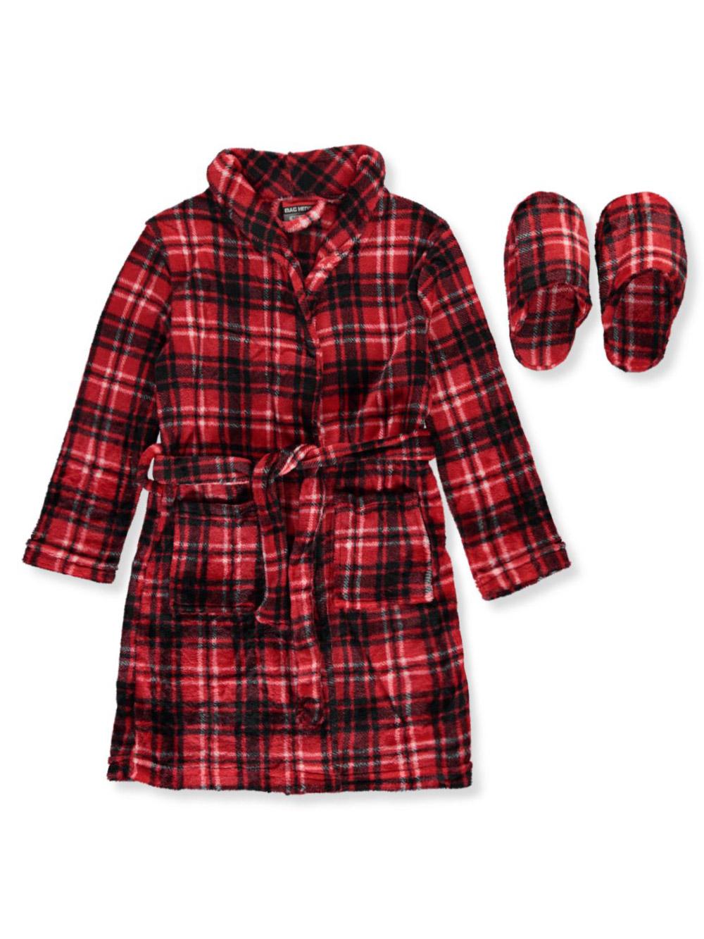 MAC HENRY Boys Coral Fleece Plush Robe /& Slipper Set