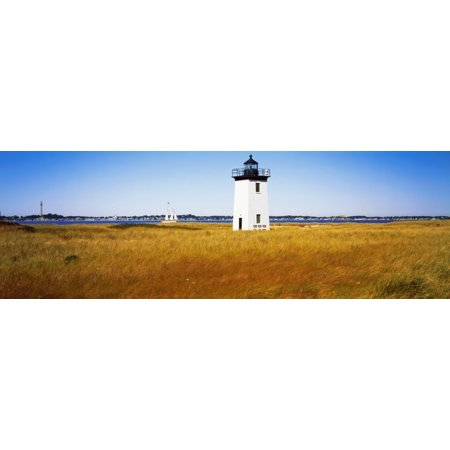 Lighthouse on the beach Long Point Light Long Point Provincetown Cape Cod Barnstable County Massachusetts USA Poster Print ()