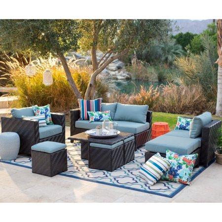 Belham Living Cara All Weather Wicker Sectional Sofa Set ()