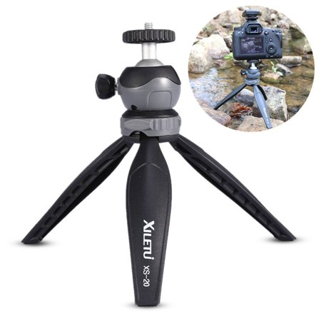Yosoo Camera Mini Tripod, ABS Plastic Tripod with 360 Degree Removable Ball Head and 2.5kgs Load for Travel and Work, for Digital Camera,Small Size Professional Cameras, Phones
