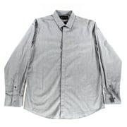 INC NEW Charcoal Gray Crosshatch Mens Size 2XL Neville Button-Front Shirt