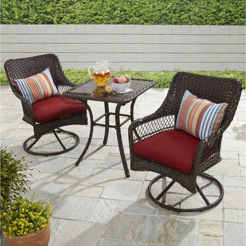 Better Homes and Gardens Colebrook 3 Piece Outdoor Bistro Set, Seats 2 by Zhejiang Huayue Furniture