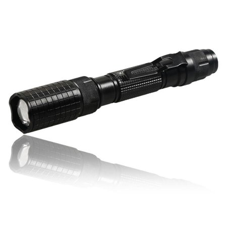 Tactical 150000Lumen T6 5Modes LED Flashlight Aluminum Torch Zoomable Flash Light with Rechargeable Batteries + Charger and Carrying Case