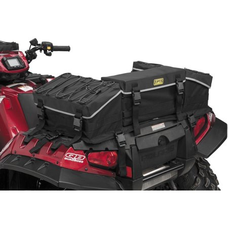 Atv Rack Bag - Quad Boss QB3-001 Reflective Series Rear Rack Bag with Integrated ATV Cover