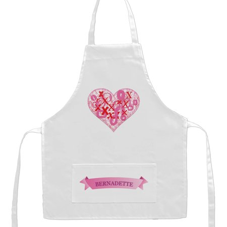 (Personalized XoXo Heart Kids Craft Apron)