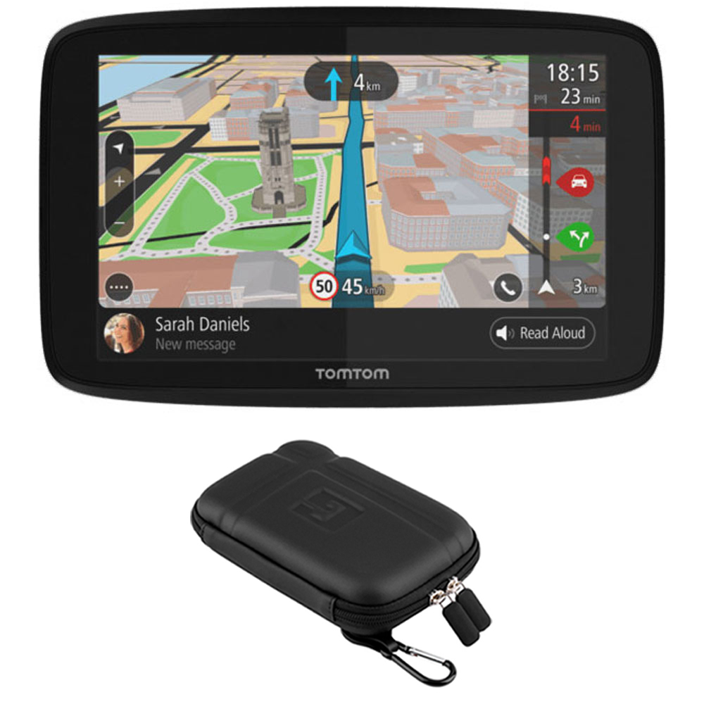"TomTom GO 520 GPS 5"" Touch Screen (US-CAN-MEX) with Protect and Stow Case"