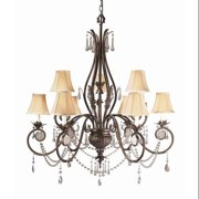 World Imports Lighting 753-62 Berkeley Square 9-Light Chandelier, Weathered B...