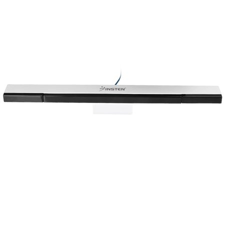 Insten Wired Sensor Bar Compatible With Nintendo Wii and Nintendo Wii U Console (with Stand and extension cable) Replacement Infrared IR Ray Motion Sensor Bar