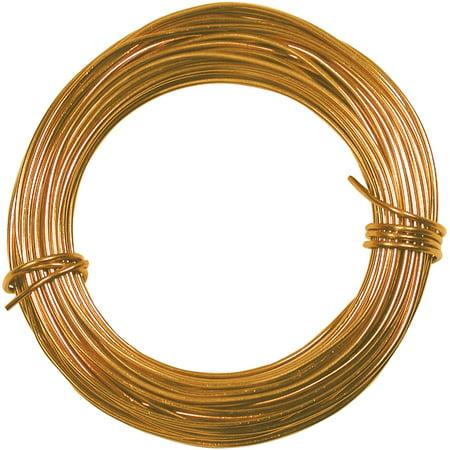 Petite Aluminum Wire 18 Gauge 39' Coil-Gold
