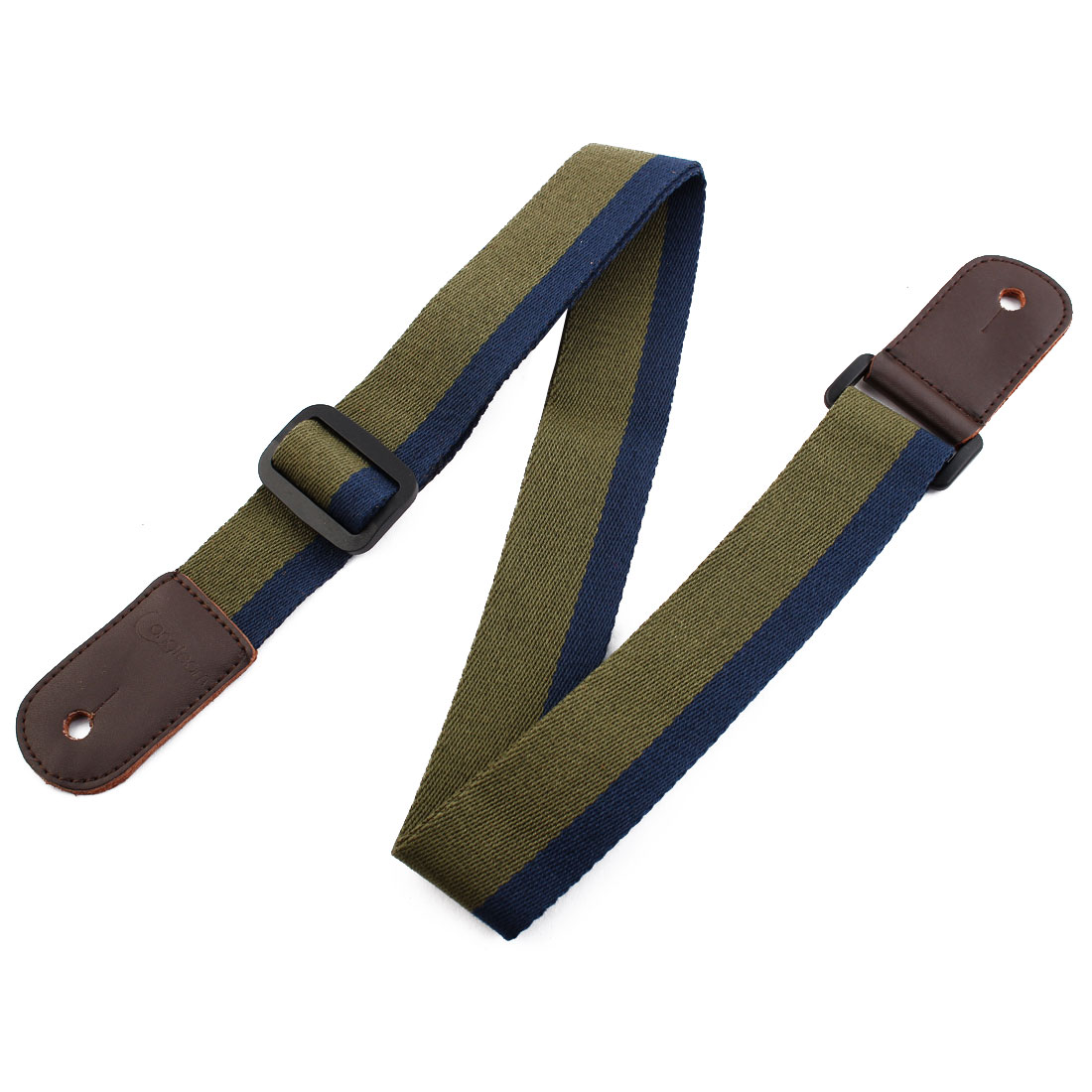 Faux Leather End Adjustable Guitar Shoulder Strap Bass Belt Army Green Dark Blue