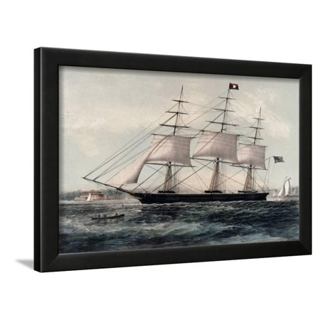 Clipper Ship Nightingale 1854 Framed Print Wall Art By James Edward Buttersworth (James Buttersworth Ships)