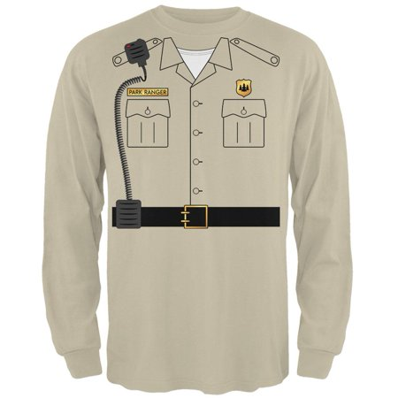 Halloween Forest Park Ranger Costume Mens Long Sleeve T Shirt (St Louis Park Halloween Events)
