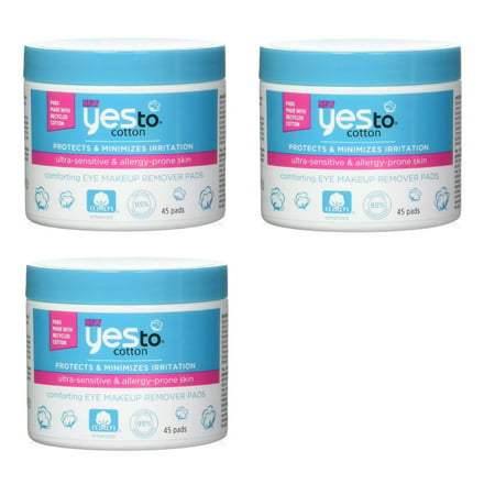 Yes To Cotton Protects And Minimizes Irriation For Ultra Sensitive - Allergic-reaction-to-makeup-remover-on-eye