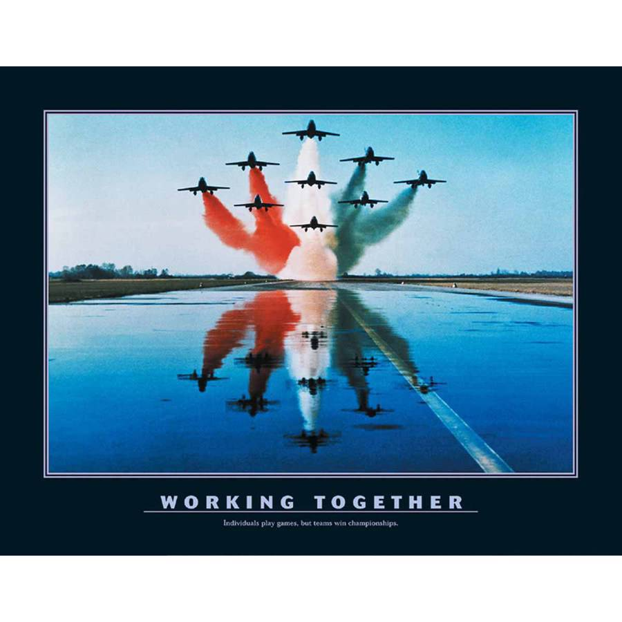 Motivational-Working Together Photography Art