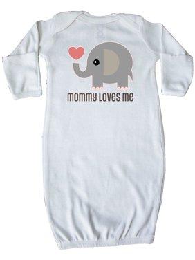 Mommy Loves Me elephant Newborn Layette