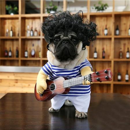 Funny Pet Guitar Clothes Dog Guitarist Dressing Costume Pet Guitar Dress - image 3 of 9