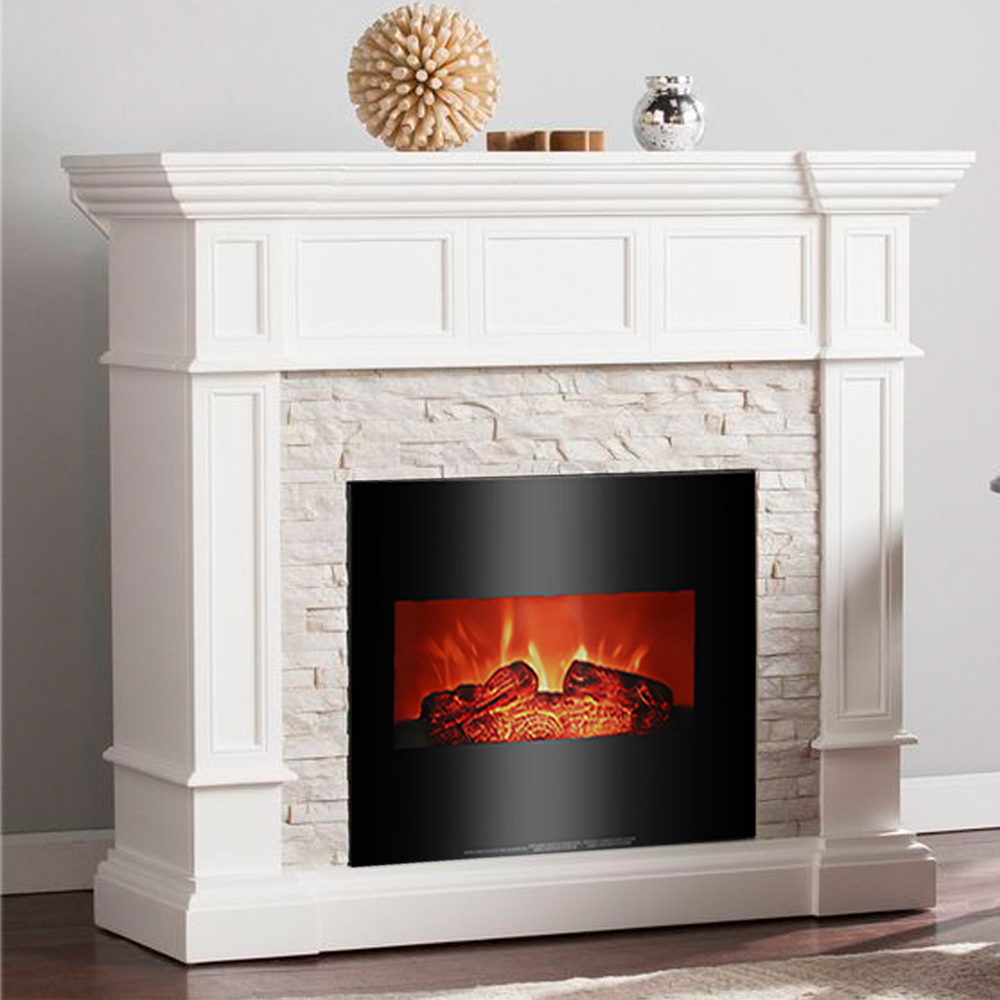 "Ktaxon Room 1400W 26"" Fireplace w/Remote Control,Electric Fireplace Heater for Home-Black"