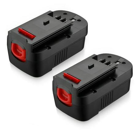 Powerextra 2-Pack 18-Volt 3700mAh Replacement Battery for Black & Decker HPB18 HPB18-OPE 244760-00 A1718 FS18FL FSB18 Firestorm Black and Decker 18V Power Tools