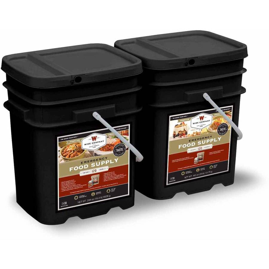 Wise 240 Serving Package of Long Term Emergency Food Supply. 1 Month Supply for 4 Adults (2 Servings Daily)