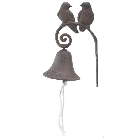 Cast Iron Dinner Bell - Love Birds - Distressed Brown
