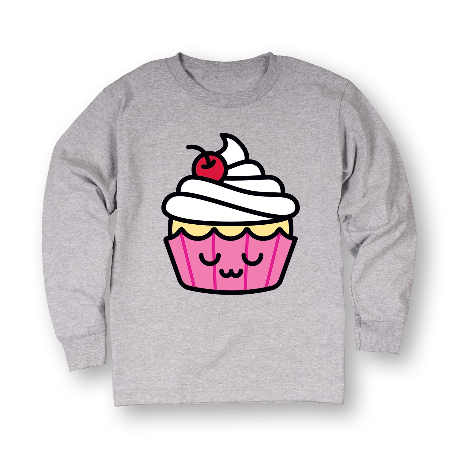 Kawaii Cupcake-TODDLER LONG SLEEVE TEE