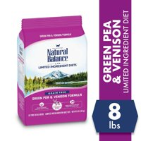 Natural Balance L.I.D. Limited Ingredient Diets Green Pea & Venison Formula Dry Cat Food, 8-Pound