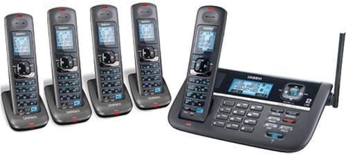 Uniden DECT4086-5 2 Line Cordless Phone System w  DECT 6.0 Technology by Uniden