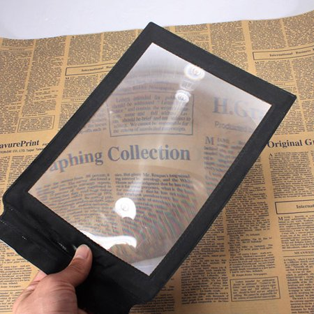 A4 Full Page Reading Aid Lens Magnifier Sheet Magnifying Glass 3X Magnifier](Magnifying Glasses For Sale)