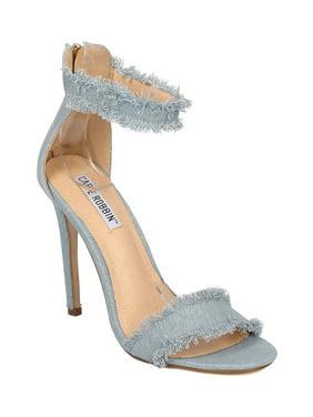 d503574f62fd Product Image New Women Cape Robbin Alza-33 Denim Open Toe Ankle Strap  Stiletto Sandal