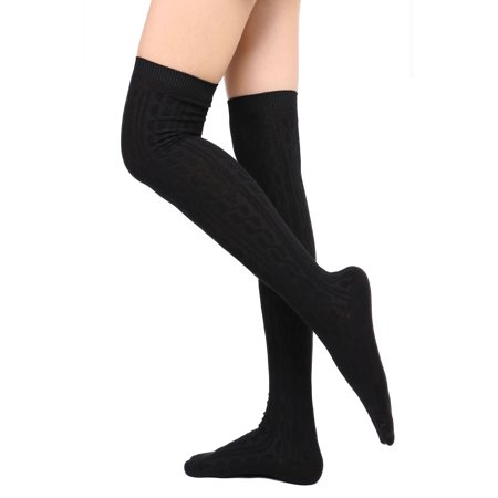 Leg Warmers Women's Soft Warm Knit Thigh-High Knee High Winter