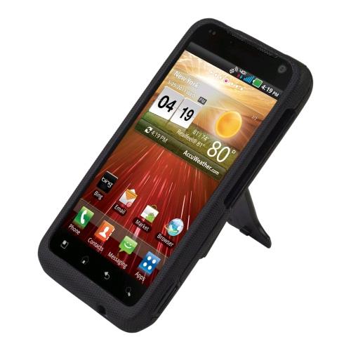 Body Glove - Flex Snap-On Case with Kickstand for LG Revolution VS910  - Black