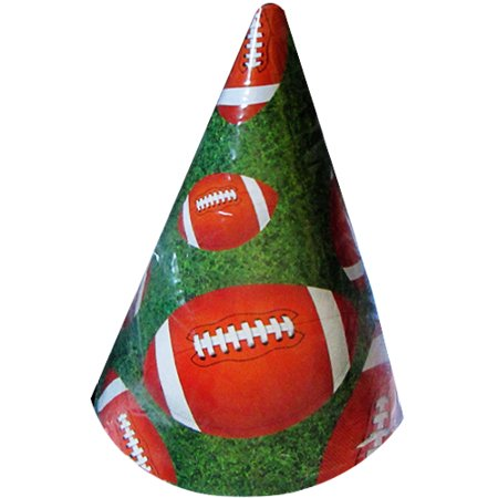 Team Sports Football Cone Hats (8ct)