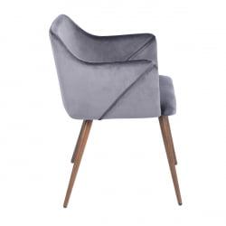 FurnitureR Dining Room Upholstered arm chair (2-piece set),GREY - image 1 de 8