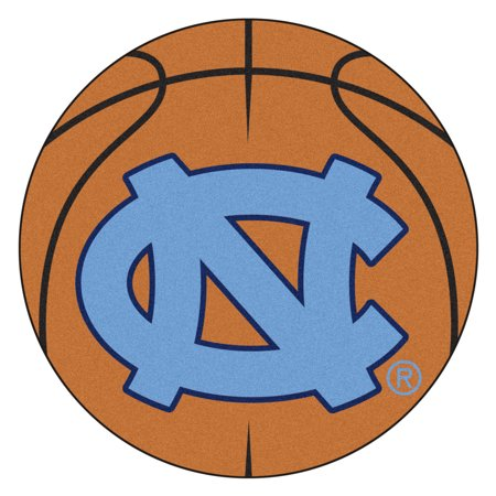 NCAA University of North Carolina - Chapel Hill Tar Heels Basketball Shaped Mat Area Rug ()