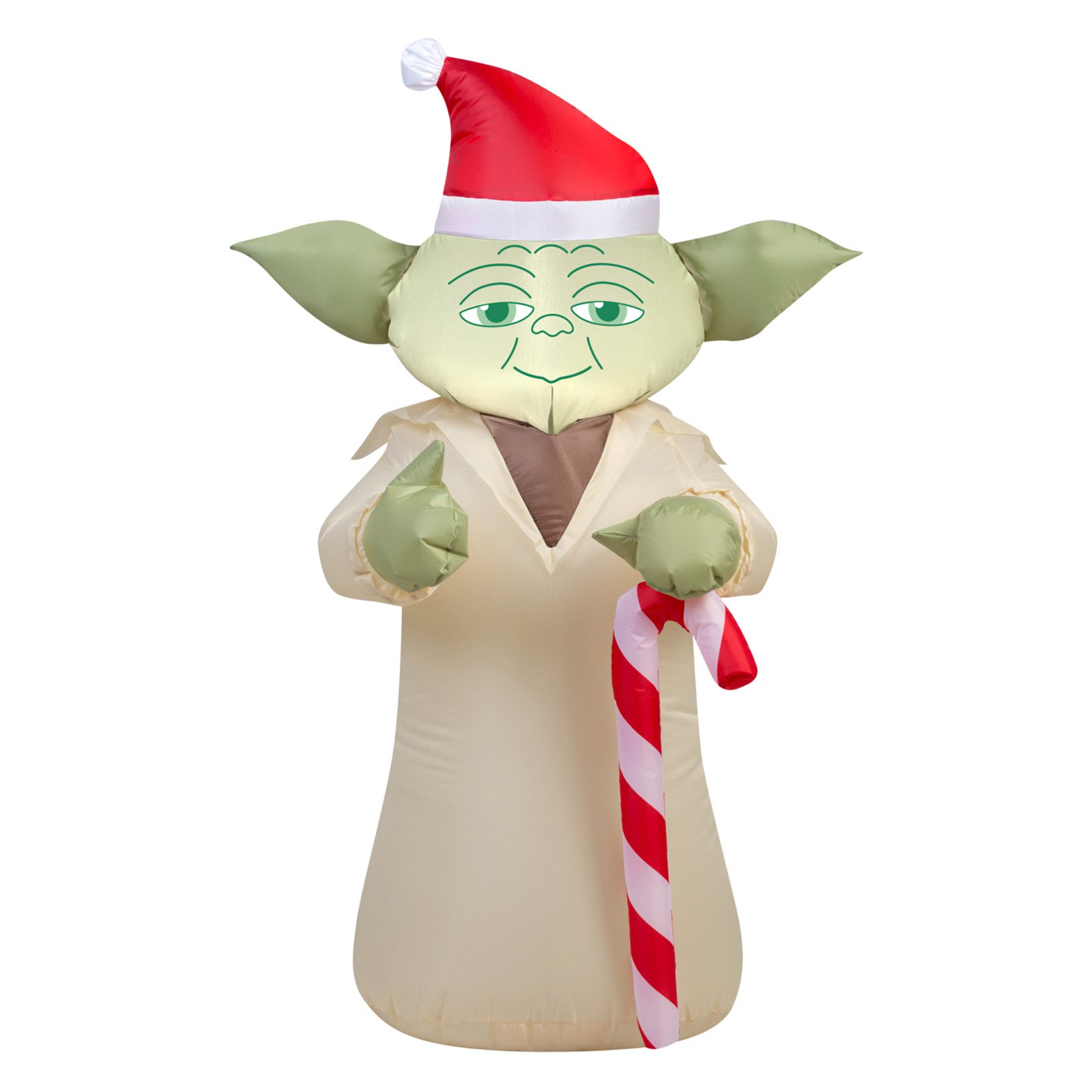 Yoda with Candy Cane Airblown Christmas Decoration