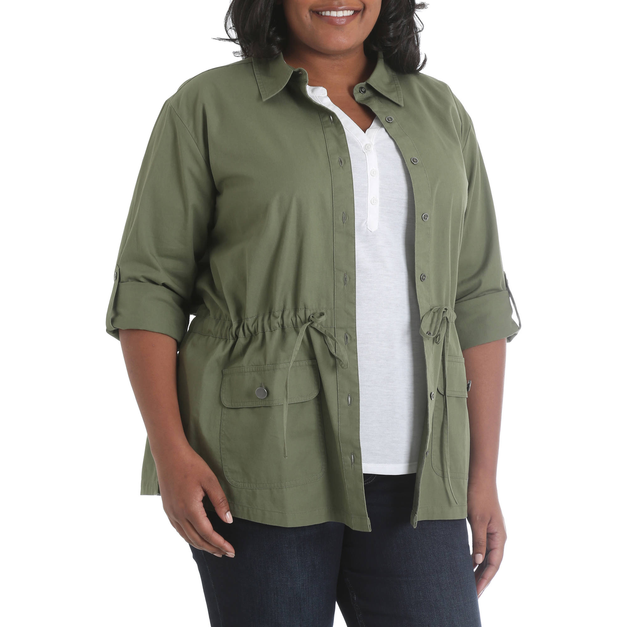 Riders by Lee Women's Plus Twill Cargo Jacket