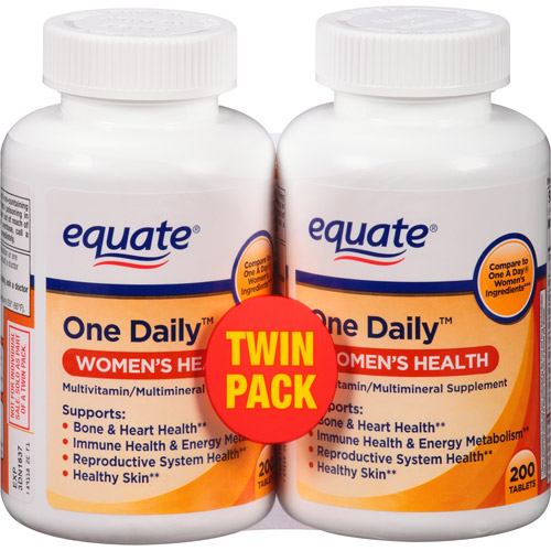 equate one daily women s health tablets multivitamin