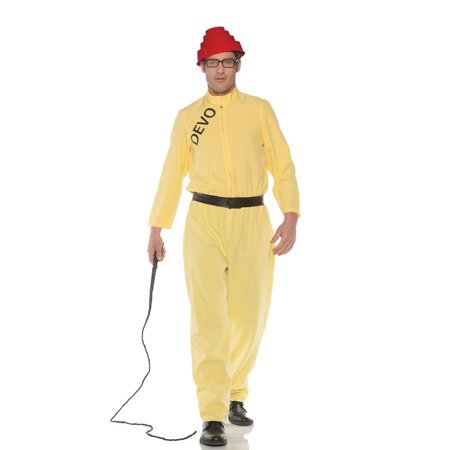 Devo Whip It Men's Adult Halloween Costume, One Size, (42-46) - Costume Whip