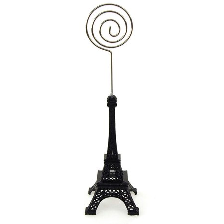 Metal Eiffel Tower Decor Card Holder, 4-inch, Swirl, Black](Firefly Names)