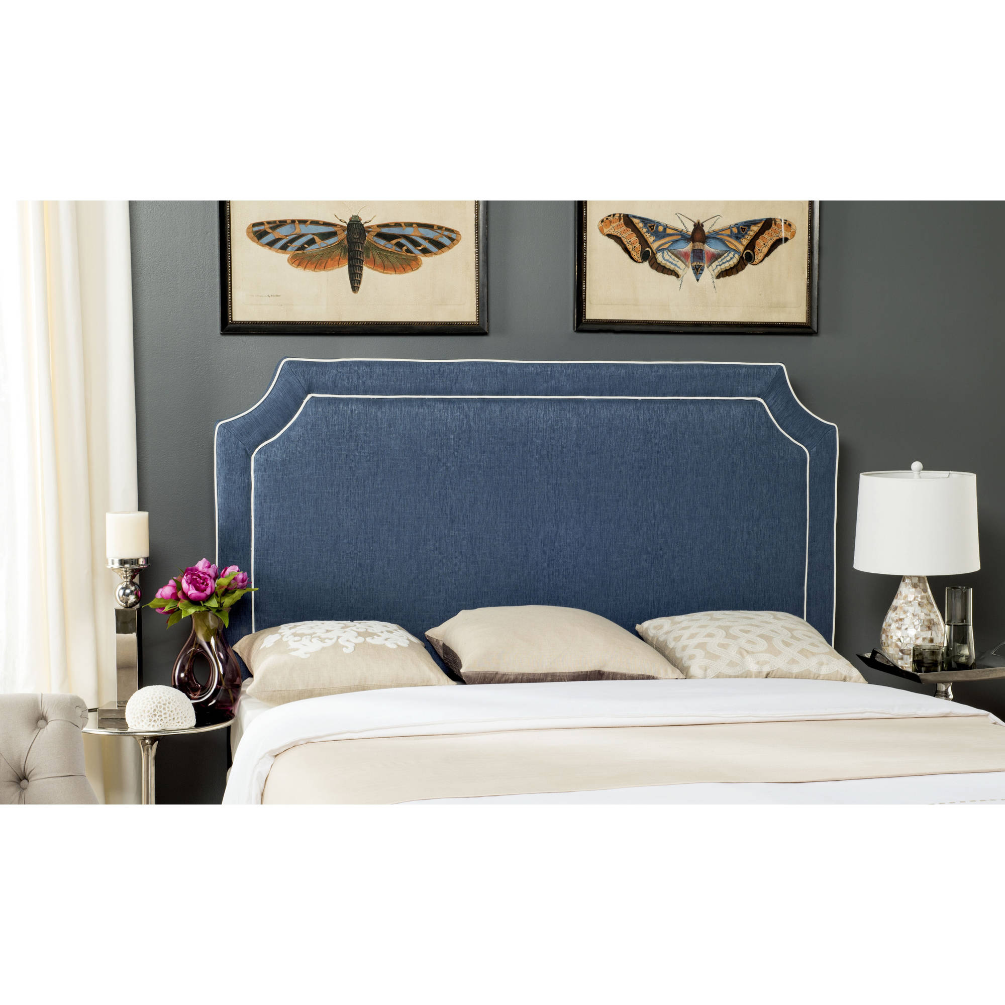Safavieh Dane Piping Headboard, Available in Multiple Color and Sizes