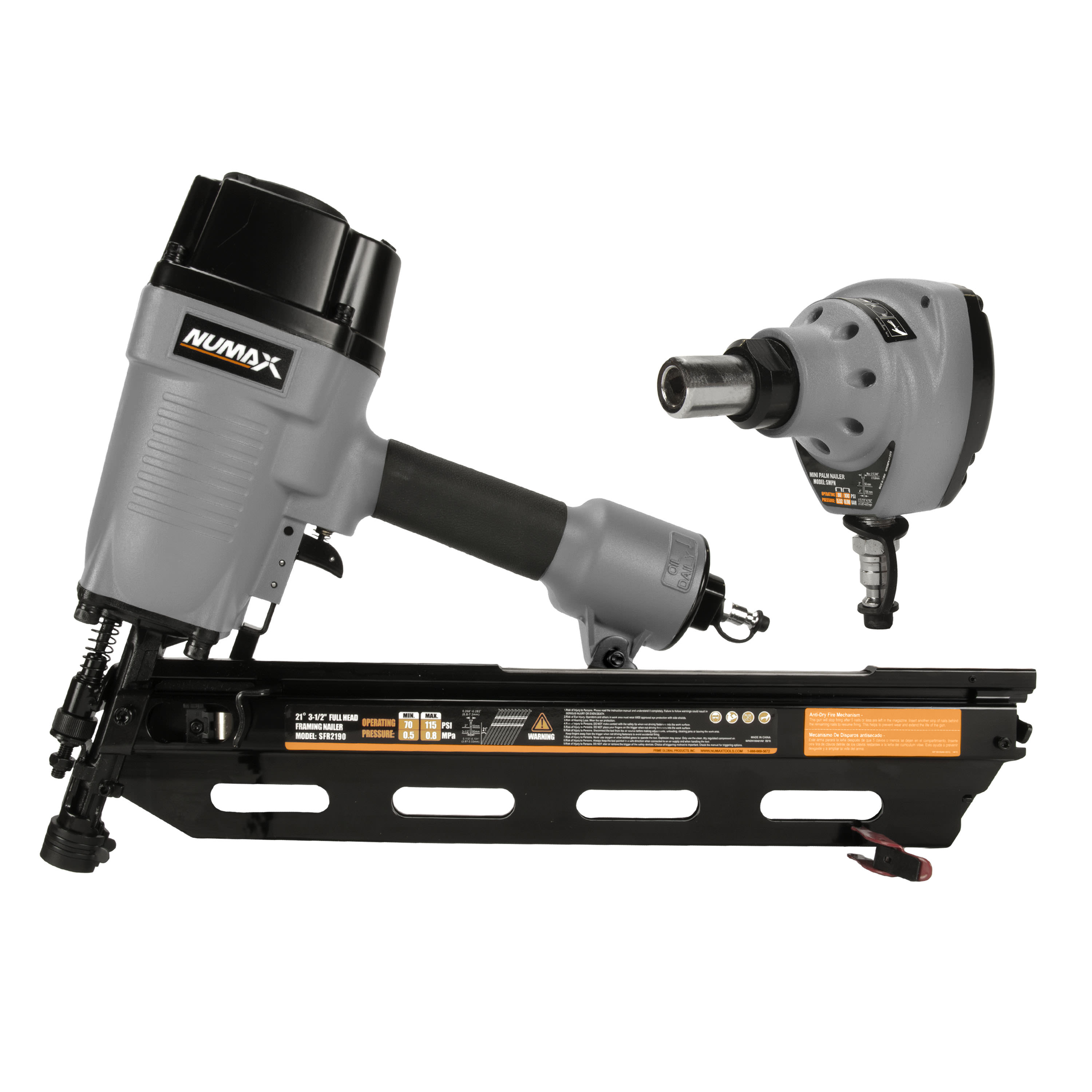 Numax 21° Framing Nailer and Palm Nailer Kit