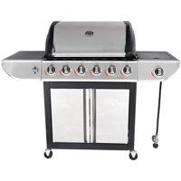 Deals on RevoAce 6-Burner LP Gas Grill w/Side Burner GBC1768WB