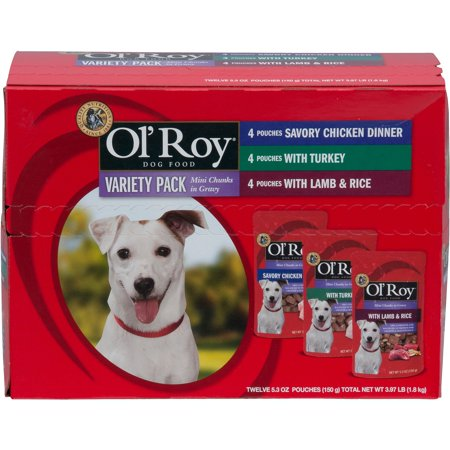 Ol Roy Gourmet Dog Food Pack  12 Ct
