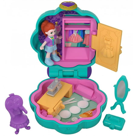 Polly Pocket Mini (Polly Pocket Tiny Pocket Places Fiercely Fab Studio Compact with Micro Model Lila Doll )