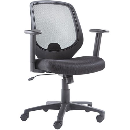oif mid back swivel tilt mesh chair mesh back seat black