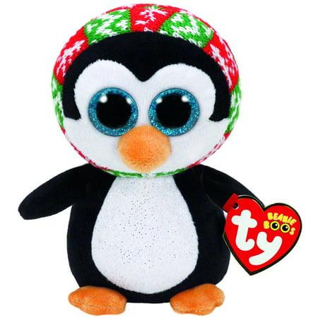 New TY Beanie Boos - Penelope the Penguin Christmas (Glitter Eyes) Small 6